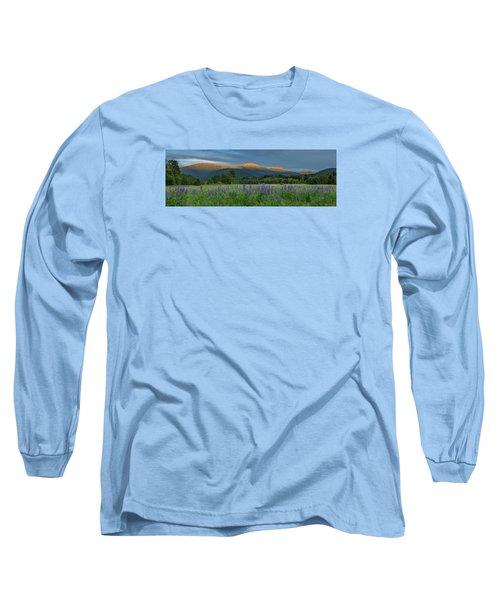 Valley Way Lupine Sunset Long Sleeve T-Shirt