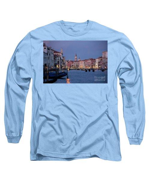 Venice Blue Hour 2 Long Sleeve T-Shirt by Heiko Koehrer-Wagner