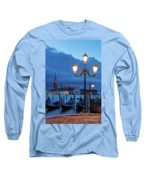 Long Sleeve T-Shirt featuring the photograph Venice Dawn V by Brian Jannsen