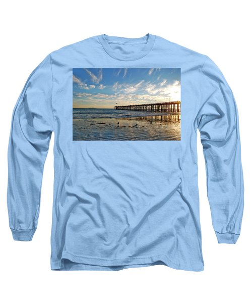 Ventura Pier At Sunset Long Sleeve T-Shirt