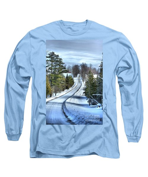 Vermont Country Landscape Long Sleeve T-Shirt by Deborah Benoit