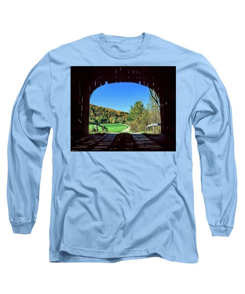 Vermont Covered Bridge Long Sleeve T-Shirt