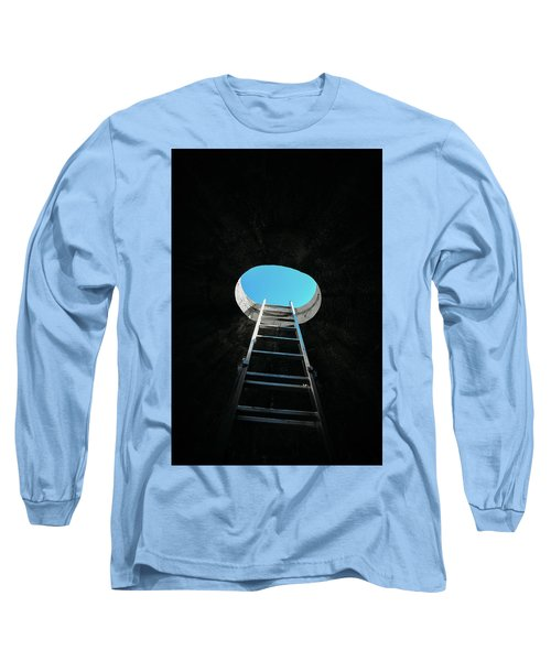 Vertical Step-ladder On Ceiling Window  Long Sleeve T-Shirt