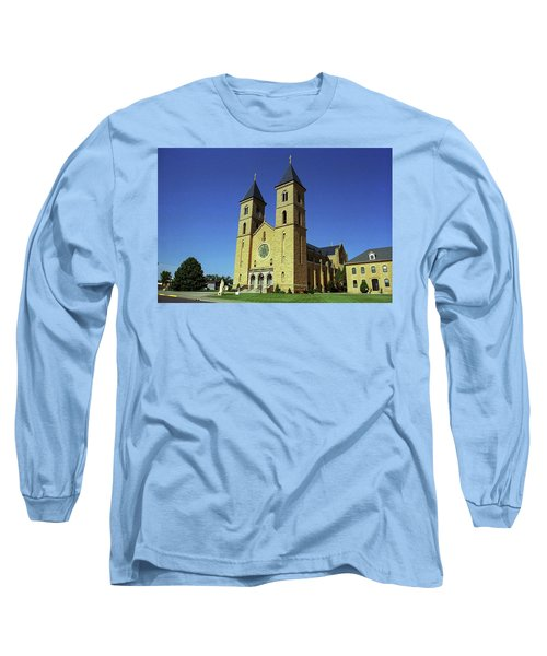 Long Sleeve T-Shirt featuring the photograph Victoria, Kansas - Cathedral Of The Plains 6 by Frank Romeo