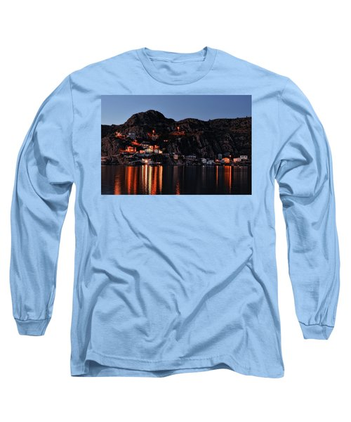 View From The Harbor St Johns Newfoundland Canada At Dusk Long Sleeve T-Shirt