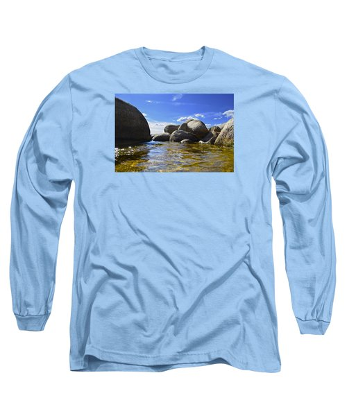 View From The Water Of Lake Tahoe Long Sleeve T-Shirt by Alex King