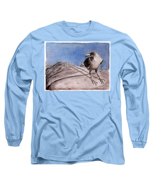 Long Sleeve T-Shirt featuring the painting View by Jasna Dragun