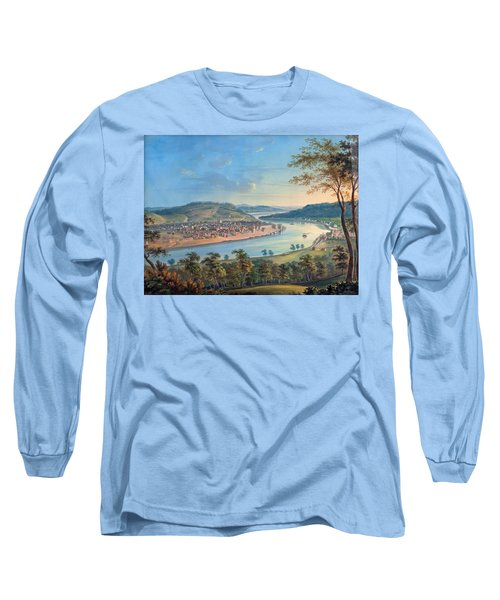 Long Sleeve T-Shirt featuring the painting View Of Cincinnati From Covington by John Caspar Wild