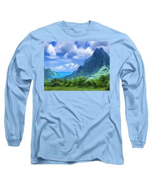 View Of Cook's Bay Mo'orea Long Sleeve T-Shirt