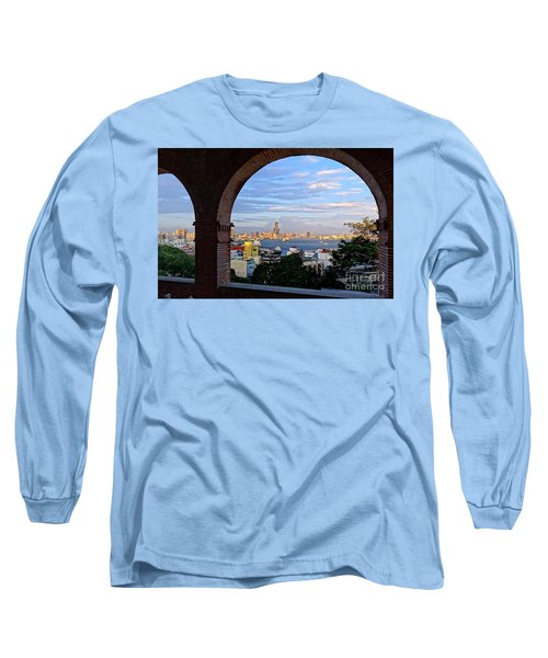 Long Sleeve T-Shirt featuring the photograph View Of Kaohsiung City At Sunset Time by Yali Shi