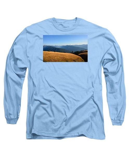 View Of Olympics From Hurricane Ridge Long Sleeve T-Shirt