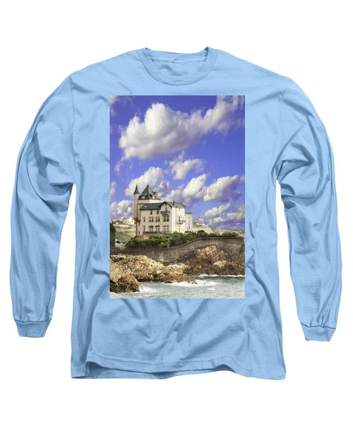 View Of The Beautiful Castle On The Bay Of Biscay Of The Atlantic Ocean Long Sleeve T-Shirt