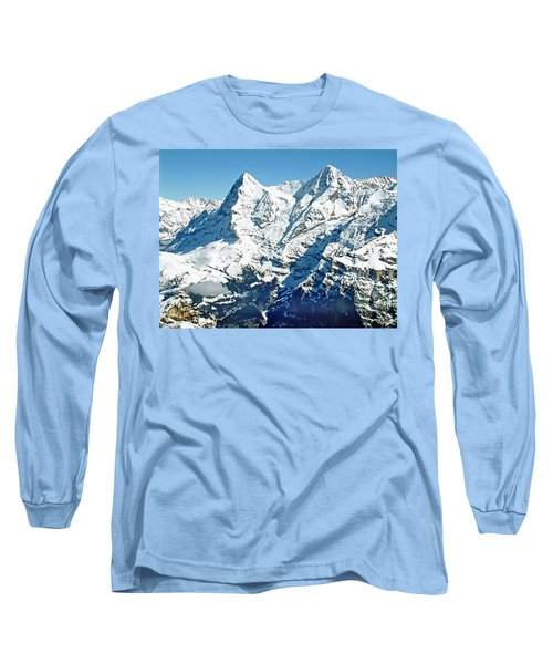 View Of The Eiger From The Piz Gloria Long Sleeve T-Shirt by Joseph Hendrix