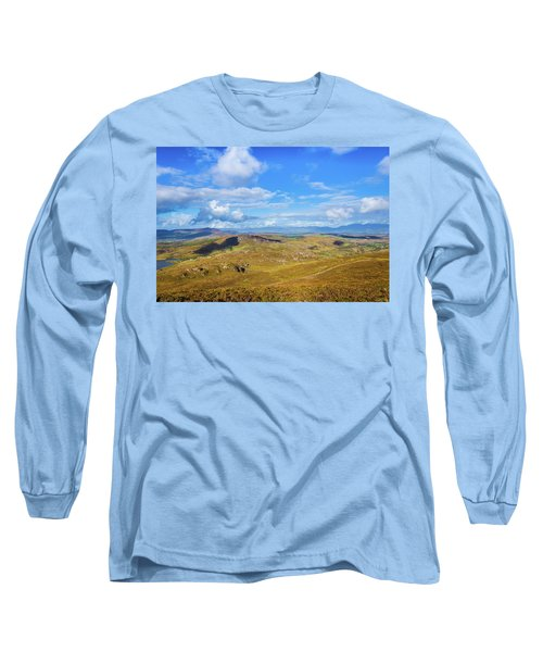 View Of The Mountains And Valleys In Ballycullane In Kerry Irela Long Sleeve T-Shirt by Semmick Photo