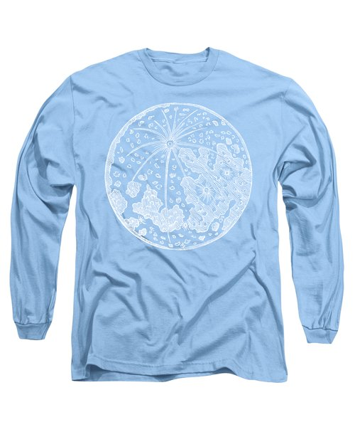 Vintage Planet Tee Blue Long Sleeve T-Shirt by Edward Fielding