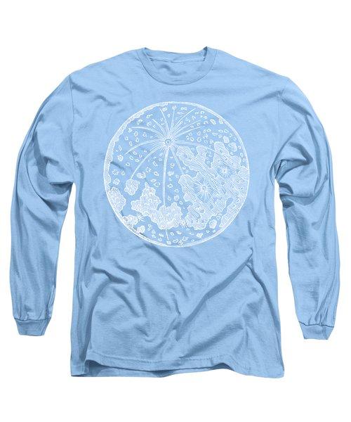 Vintage Planet Tee Blue Long Sleeve T-Shirt by Edward Fielding