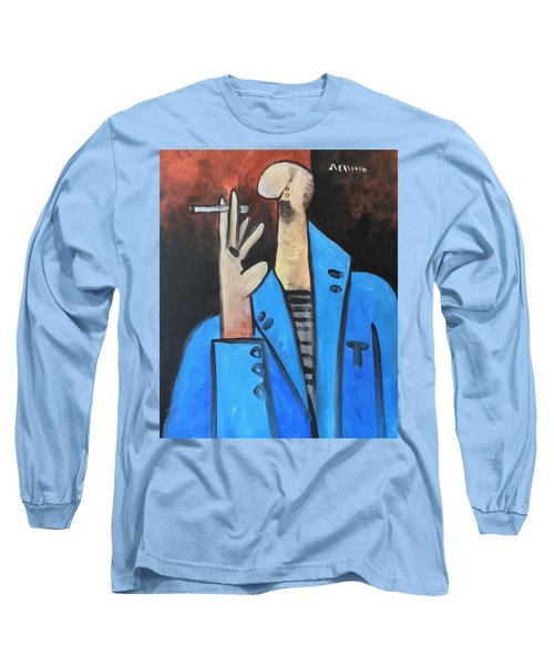 Vitae The Smoker In A Blue Blazer  Long Sleeve T-Shirt