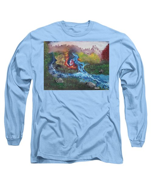 Volcano Delta Long Sleeve T-Shirt by Antonio Romero