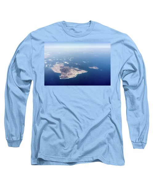 Volcano Island Long Sleeve T-Shirt by Teemu Tretjakov