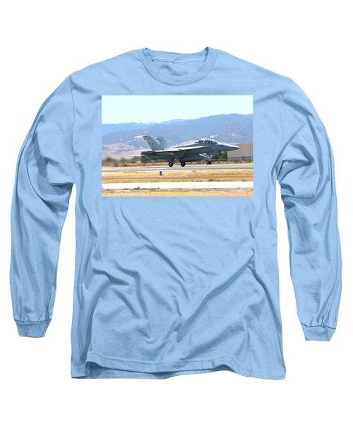 Vr  Mcdonnell Douglas-f/a18 Hornet Departs Hollister Air Show Long Sleeve T-Shirt