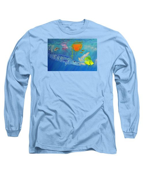 Wahoo Dolphin Painting Long Sleeve T-Shirt