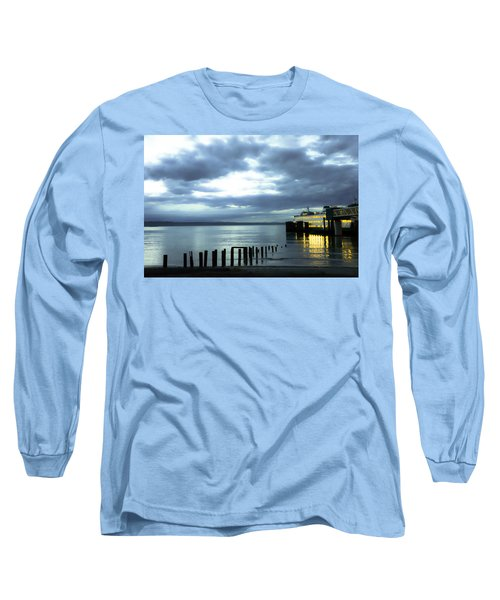 Waiting For The Ferry Long Sleeve T-Shirt by Ronda Broatch