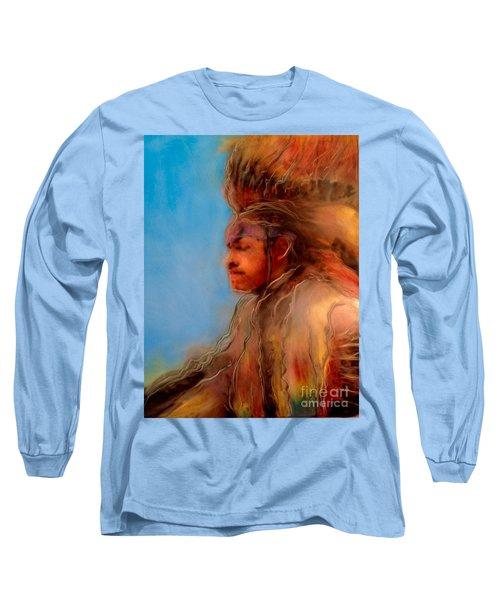 Wakantanka Maka Kin Kaye Long Sleeve T-Shirt by FeatherStone Studio Julie A Miller