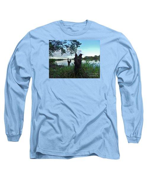 Walk Along The River In Verdun Long Sleeve T-Shirt