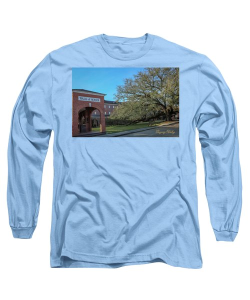 Long Sleeve T-Shirt featuring the photograph Walk Of Honor Entrance by Gregory Daley  PPSA
