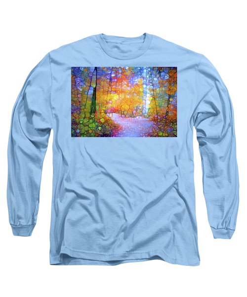 Long Sleeve T-Shirt featuring the digital art Walk With Me by Tara Turner
