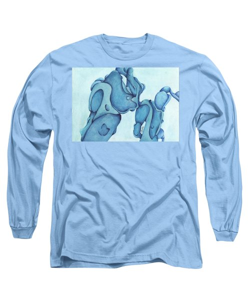 Man And His Best Friend Long Sleeve T-Shirt by Versel Reid