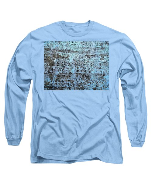 Wall Abstract 163 Long Sleeve T-Shirt by Maria Huntley