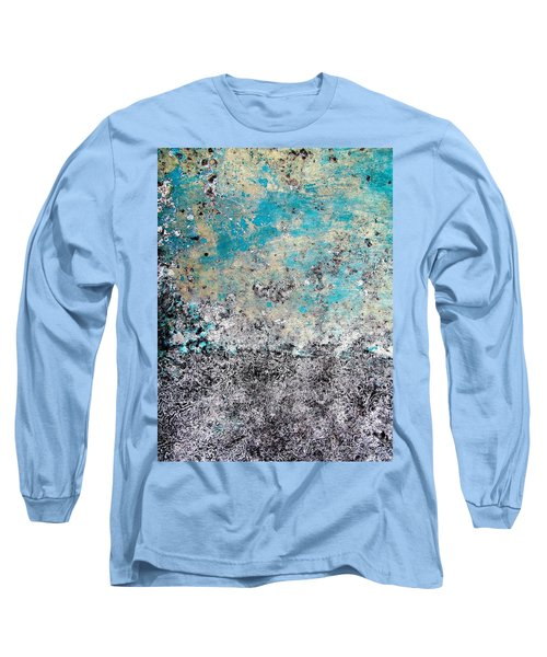 Wall Abstract 174 Long Sleeve T-Shirt by Maria Huntley