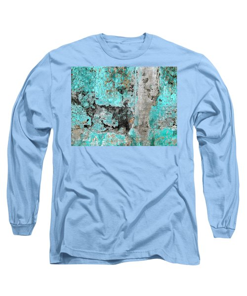 Wall Abstract 219 Long Sleeve T-Shirt by Maria Huntley