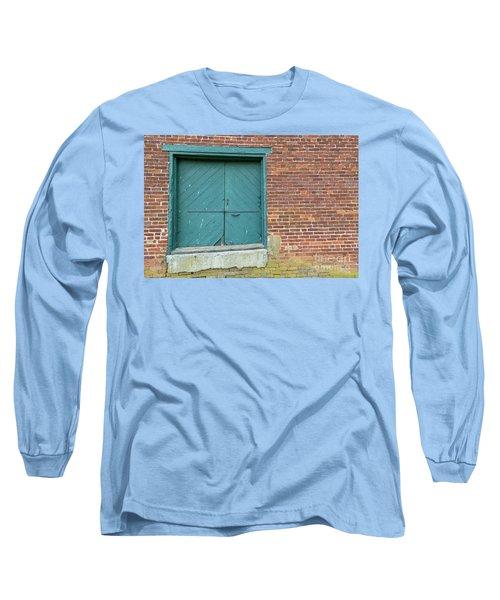 Warehouse Loading Door And Brick Wall Long Sleeve T-Shirt