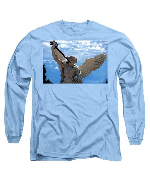 Warrior Angel Long Sleeve T-Shirt by Susanne Van Hulst