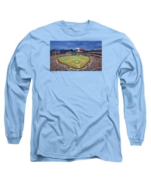 Washington Nationals Park - Dc Long Sleeve T-Shirt by Brendan Reals