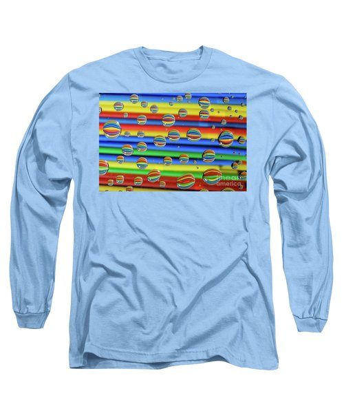 Water Droplets Long Sleeve T-Shirt