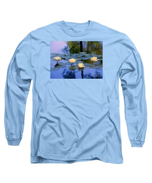 Long Sleeve T-Shirt featuring the photograph Water Lilies by Lisa L Silva