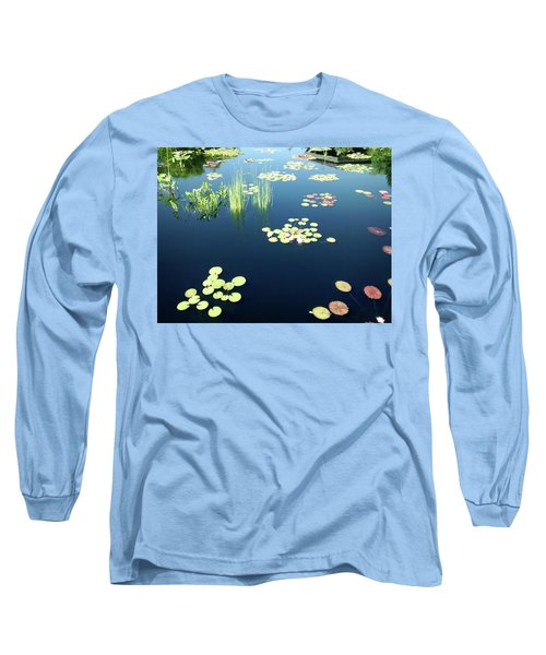 Long Sleeve T-Shirt featuring the photograph Water Lilies by Marilyn Hunt