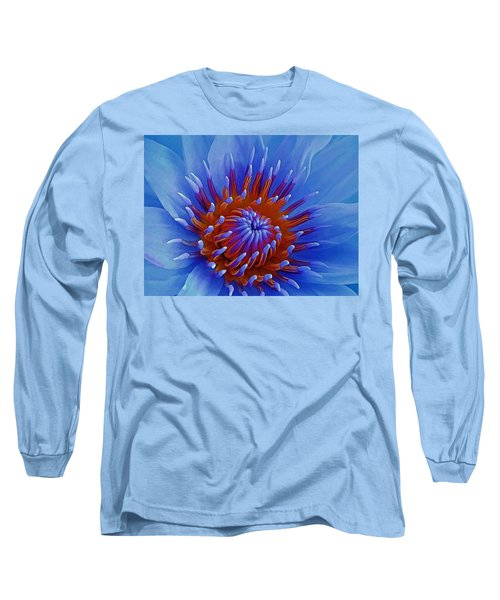 Water Lily Center Long Sleeve T-Shirt