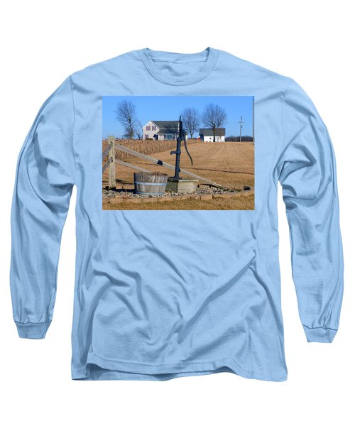 Water Well Long Sleeve T-Shirt by Tina M Wenger