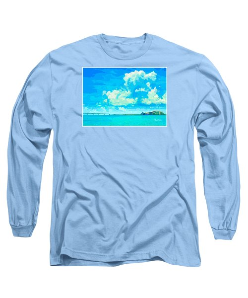 Watercolor Spring On Sarasota Bay Long Sleeve T-Shirt