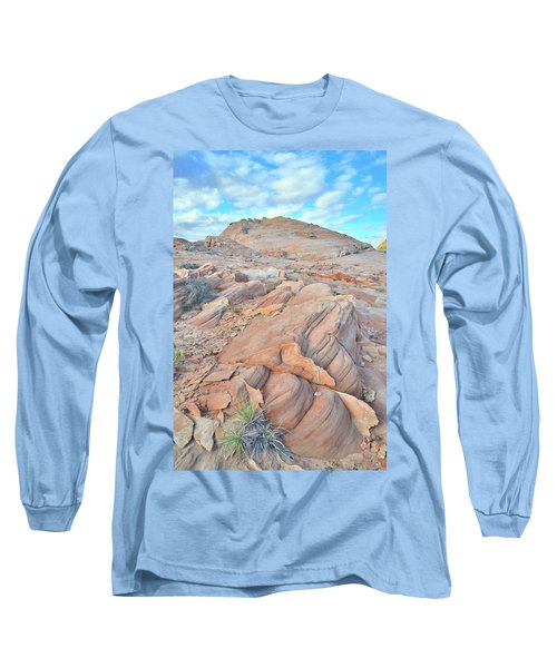 Wave Of Sandstone In Valley Of Fire Long Sleeve T-Shirt by Ray Mathis