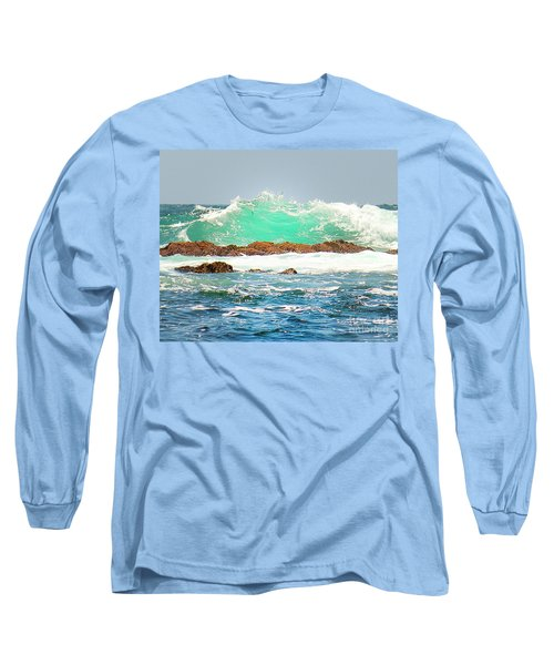 Waves At Pacific Grove California Long Sleeve T-Shirt