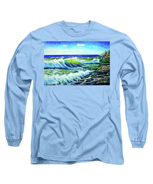 Waves Long Sleeve T-Shirt by Viktor Lazarev