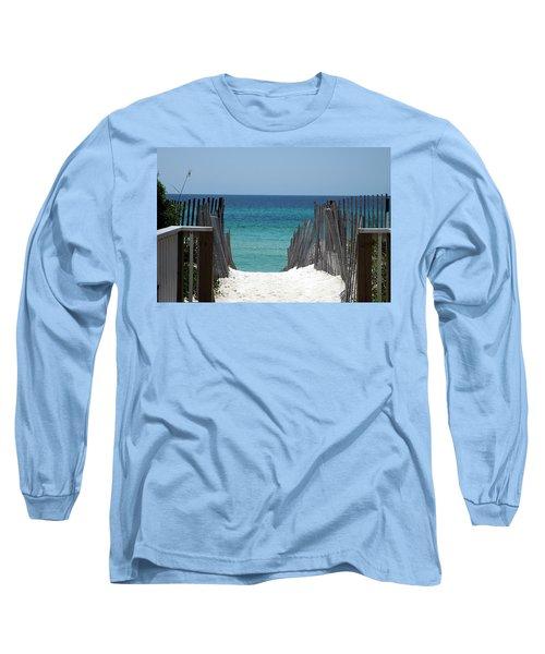 Way To The Beach Long Sleeve T-Shirt by Susanne Van Hulst