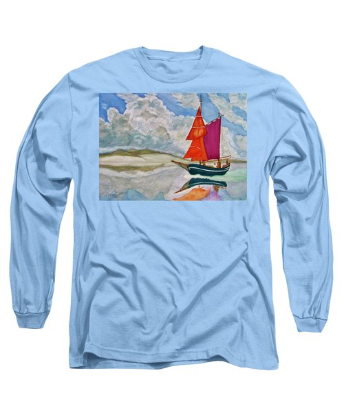 We Sailed Upon A Sea Of Glass Long Sleeve T-Shirt by Rand Swift