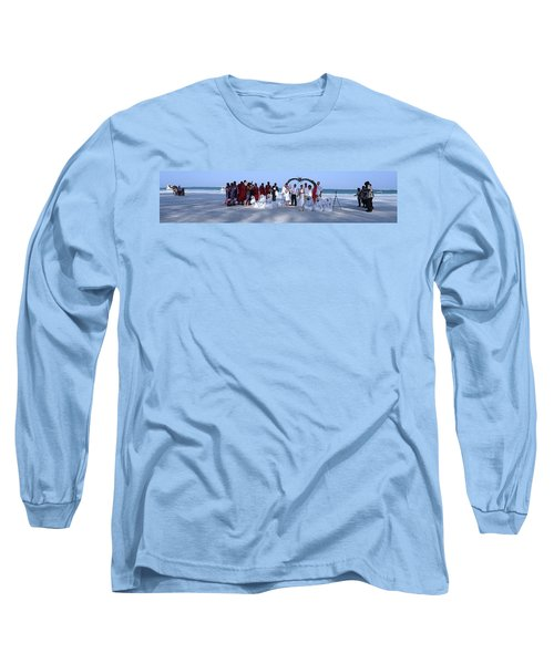 Wedding Complete Panoramic Kenya Beach Long Sleeve T-Shirt