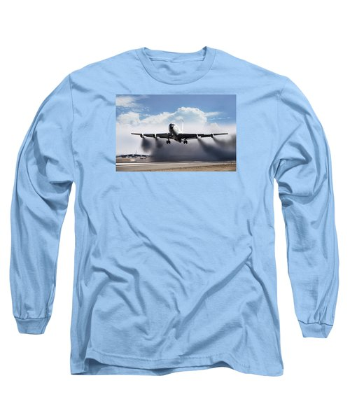 Wet Takeoff Kc-135 Long Sleeve T-Shirt by Peter Chilelli